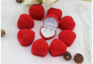New Precision 10X Romantic Velet Red Heart Ring Gift Boxes Jewelry Supplies TO