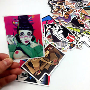 50PCS/Set Sexy Girl Skateboard Stickers DIY Laptop Luggage Stickers Decals HI