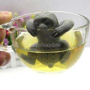 Novelty Sloth Tea Infuser Leaf Strainer Herbal Filter Diffuser Silicone FDA
