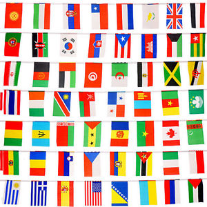 100pcs Countries String Flags 25M International World 82ftParty Banner BuntingHU