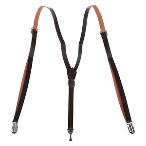 Alcoa Prime New Practical Superior Coffee Faux Leather Adjustable Band Suspenders Braces N3