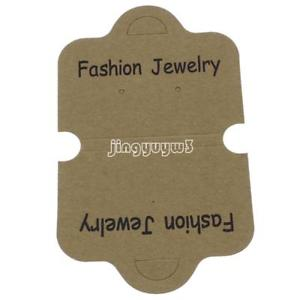 200X Fashion Jewelry Necklace Bracelet Hanging Tag Jewelry Display Paper Cards