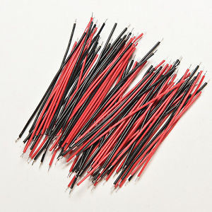 200Pcs Black Red Kit Motherboard Breadboard Jumper Cable Wires Set Tinned 5cm TB