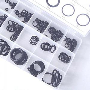 Portable Black Tool Rubber Seals Assortment O-Ring Washer For Car 18 Sizes