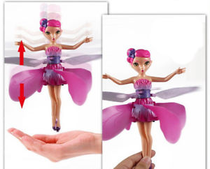 Alcoa Prime Xmas Gift Flying Fairy Frozen Elsa Doll Infrared Induction Control dolls Fly Toy