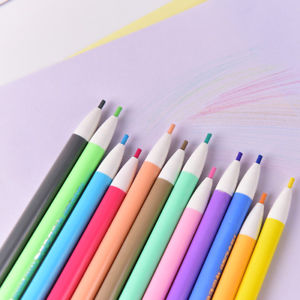 12 Color Mechanical Pencil Built in Pencil Sharpener 2.0 mm Pencil Lead Refill @