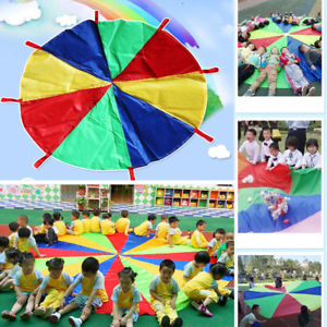 Alcoa Prime 2M Rainbow Parachute Kids Outdoor Play Game Activities Development Exercise
