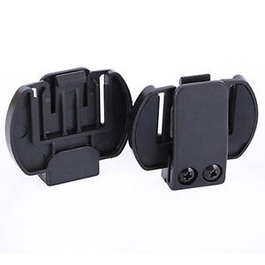 2x Clip/Clamp Mount for Motorcycle Helmet Intercom Bluetooth Interphone V6/V4 US