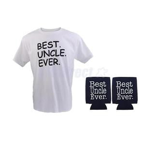 Alcoa Prime Best Uncle Ever Stubby Beer Can Cooler Mens Slogan T-shirt Birthday Holiday