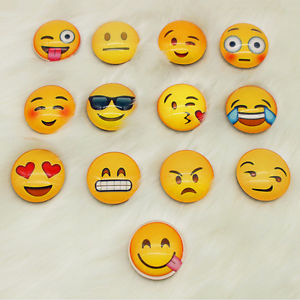 Alcoa Prime 10pcs Expression Glass Emoji Fridge Magnet Decor Whiteboard Note Message Gifts