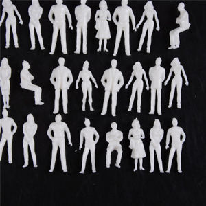 10 PCS 1:50 scale model human scale HO model ABS plastic peoples LA