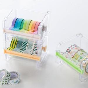 Quality Hot Practical Roll Holder Cutter Washi Tape Dispenser Desktop Storage*