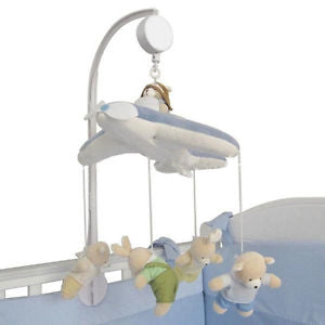 Alcoa Prime 5pc Baby Crib Mobile Bed Bell Toy Holder Arm Bracket+Wind-up Clockwork Music NEW