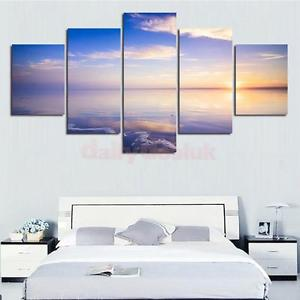 Alcoa Prime 5pcs Modern Living Room Decorative Wall Painting Set Seaside Print Pictures