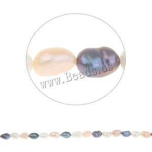 Alcoa Prime 8-9mm Baroque Mix Color Natural Cultured Freshwater Pearl Loose Beads Wholesale