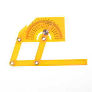 Portable 0-180 Degrees Angle Finder Plastic Protractor Goniometer Miter Gauge TB