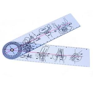 "Goniometer Angle Medical Ruler Rule Joint Bend Measure Plastic PVC 8"" 200mm G"