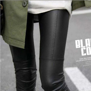 Sexy Lady Women's Skinny Faux Leather Leggings Slim Elastic Stretch Skinny Pants