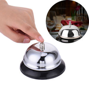 Restaurant Hotel Kitchen Service Steel Bell Ring Reception Desk Call Tools New