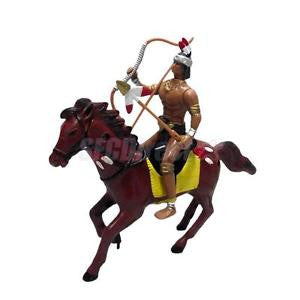 Alcoa Prime West Cowboy on Horse People Model Indian Action Figures Native American