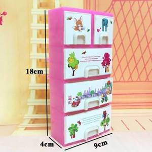 Doll Accessories Baby Toy Printing Closet Wardrobe Cabinet Furniture Accessory