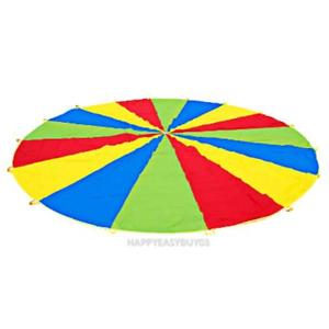 2m Kid Sports Development Outdoor Rainbow Umbrella Parachute Toy r#H3