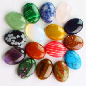 16Pcs 25x18x6mm Beautiful Mixed Gemstone Oval CAB CABOCHON D0055419