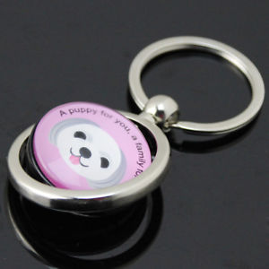 Pet Dog ID Tag QR Code Tracker Keychain Wireless Locator Anti Lost Pendant Grace
