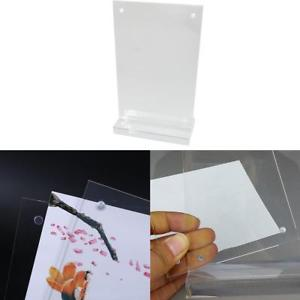 Acrylic Table Card Display Stand Holder Organic Glass Display Board 10*15cm Kit.