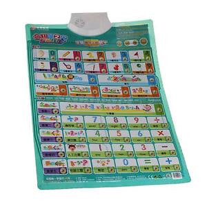 Alcoa Prime Kids ABS Plastic Electric Audio Number Learning Chart Toy 16.53x23.62inch