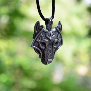 Norse Vikings Of The Necklace Original Wolf Head Pendant Necklace Jewelry New BB