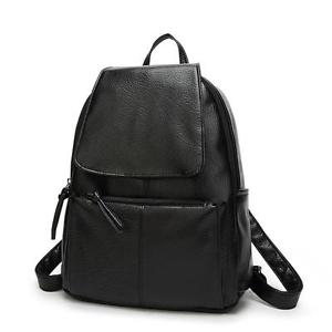 Women Girl Leather Shoulder School Bag Backpack Travel Satchel Rucksack Black