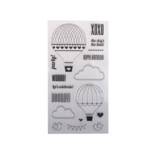 fire balloon transparent stamp for scrapbooking/card making/decoration suppliesB