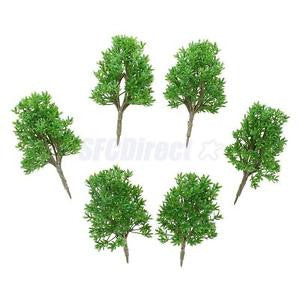 Alcoa Prime 6pcs Plastic 1:60 Scale DIY Model Trees Railway Street Building Architecture