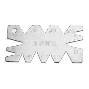5pcs Stainless Steel Screw Thread Cutting Angle Gage Gauge Measuring Tool