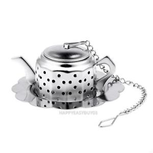Stainless Steel Teapot Tea Infuser Spice Drink Strainer Herbal Filter r#H3
