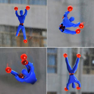 Alcoa Prime 10Pcs/set Sticky Wall Rolling Men Spider-Man Educational Toys Gifts For Children