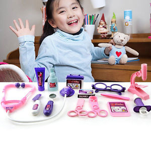 Baby Kids Doctor's Medical Play Set & Carry Case Kit Education Role Play Toy .