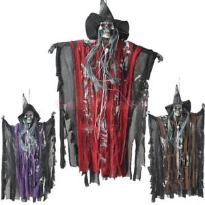 Alcoa Prime Halloween Creepy Scary Animated Skeleton Hanging Ghost Haunted Terror-Purple