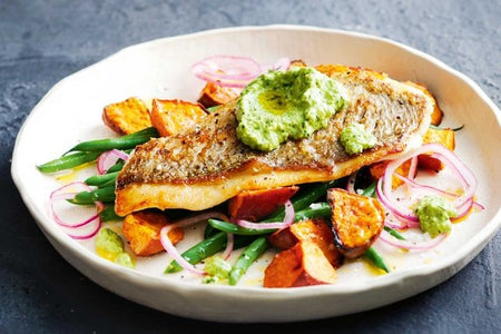 Snapper With Macadamia Pesto