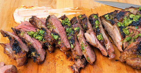Yogurt Mint Marinated Butterflied Leg Of Lamb