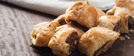 Beef & Caramalised Onion Sausage Rolls