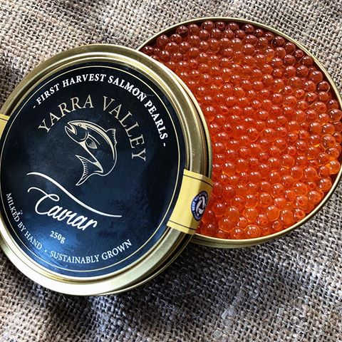 250g Australian First Harvest Salmon Caviar Tin - Yarra Valley Caviar