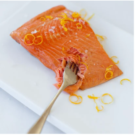 Akaroa Hot Smoked Salmon Portions (190+-gm approx)