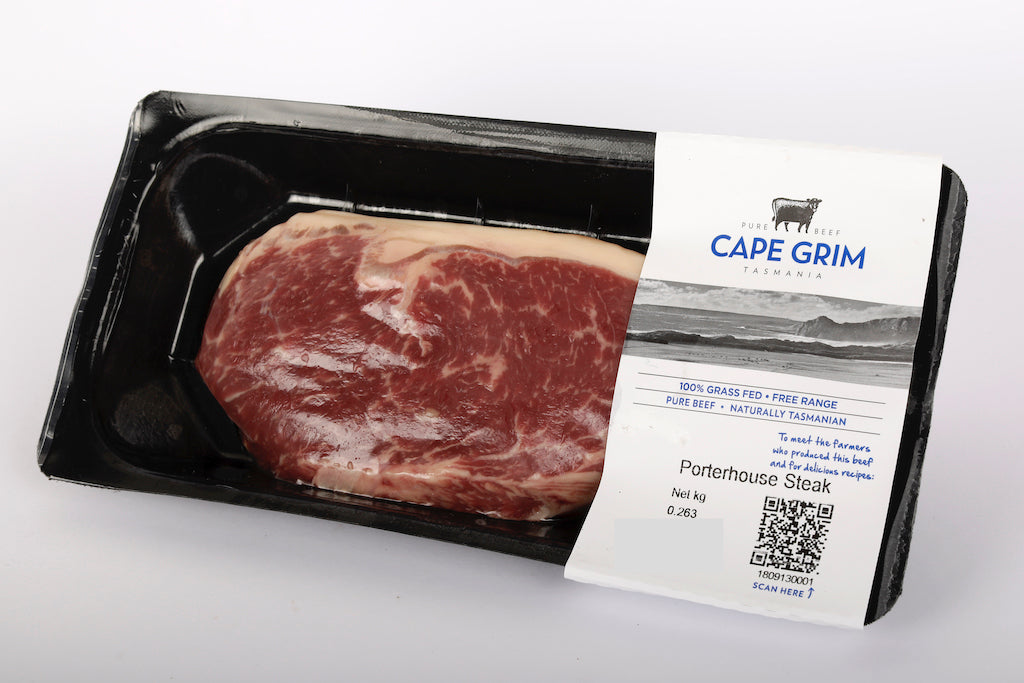 Grassfed Beef Porterhouse/Striploin Steak (1/pkt 350g) Cape Grim - The Fishwives Singapore