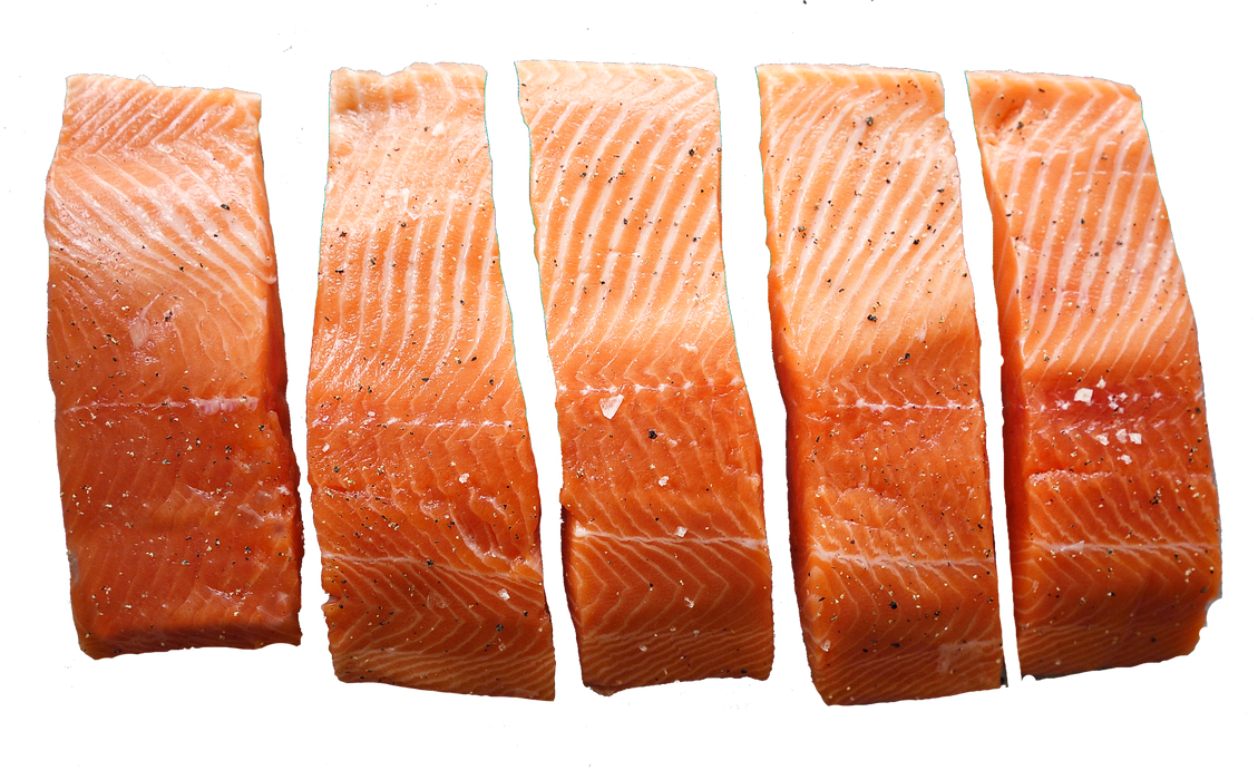Chilled Skin On Portions 5/pkt - Akaroa NZ King Salmon (Usually arrives on every Friday)