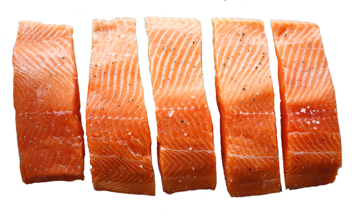 Chilled Skin Off Portions 5/pkt<br> Akaroa NZ King Salmon   (Usually arrives on Fri)