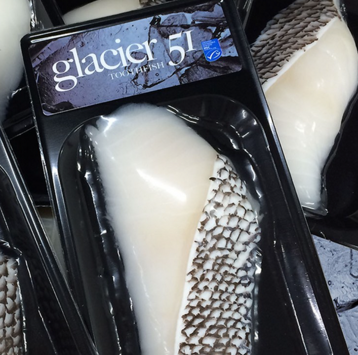 Glacier51 Patagonian Toothfish 150g - 200g Portions - WILD CAUGHT - FROZEN AT SEA
