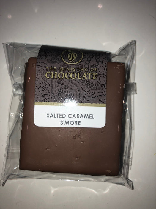 Milk Chocolate Covered Salted Caramel S'more - Ministry of Chocolate