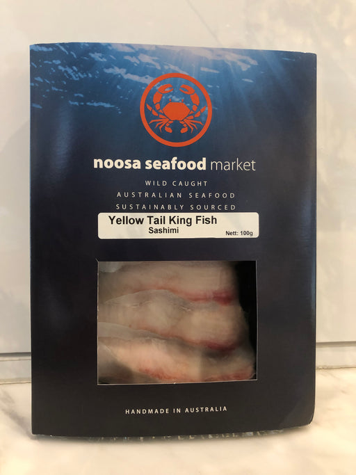 King Fish Sashimi 100g+/- Noosa Seafoods - WILD CAUGHT - FROZEN